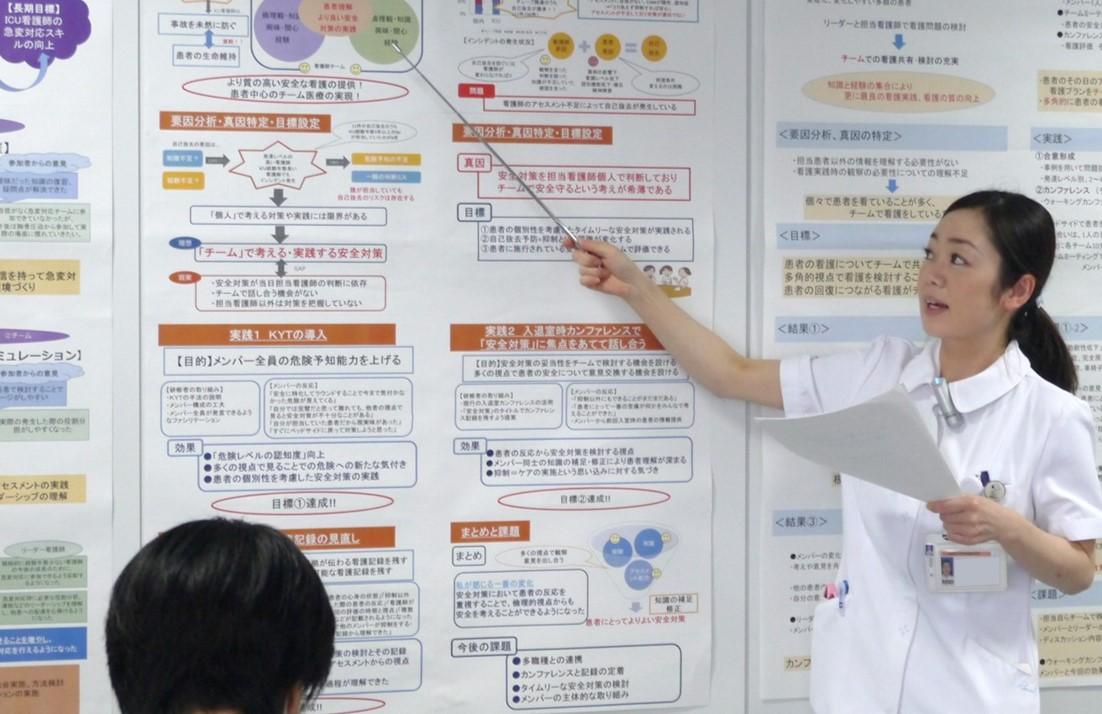 研修で強化したコミュニケーション能力を活かして発表する研修者